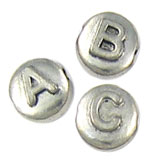 11mm Letter Disc Beads