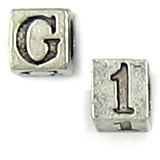 5mm Alphabet and Number Cube Beads