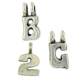 2 Loop Letter Charms