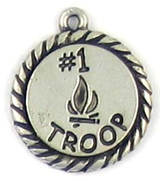 #1 Troop Charm (±17x20x1.5mm; -1.5mm-;1D)
