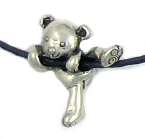 Wholesale Sliding Bear Cord Hugger Pendants.