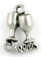 Wholesale Clinking Glasses Cheers Charms.