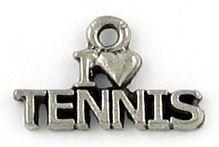 Wholesale I Heart Tennis Charms.
