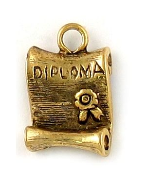 Diploma (±11x18x4mm; -2mm-;1D)