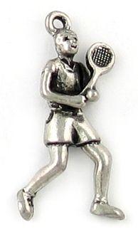 Wholesale Man Tennis Player Charms.