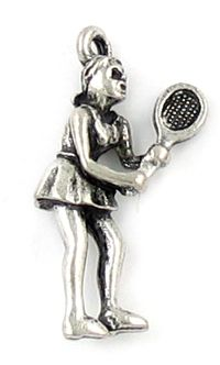 Wholesale Female Tennis Player Charms