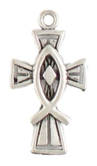 Wholesale Cross With Fish Charms.