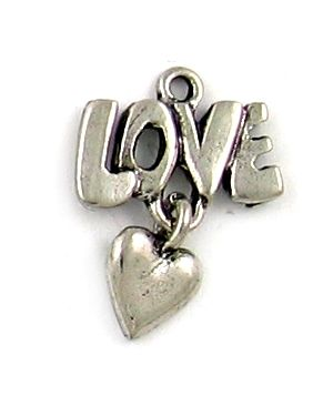 Wholesale love heart charm