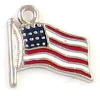 Wholesale Enameled USA Flag Charms.