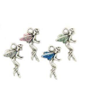 Wholesale Fairy Charms With Assorted Colored Enamel Wings