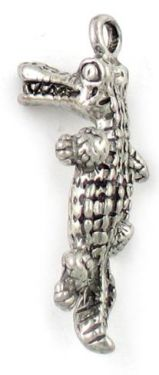 Wholesale Pewter Alligator Charms.