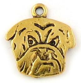 Wholesale Bulldog Face Charm