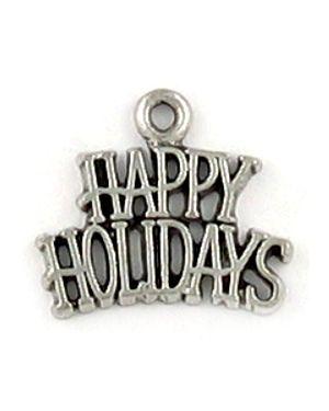 """Happy Holidays"" Charm (±19.5x17x1.5mm; -2mm-;1D)"