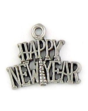 """""""Happy New Year"""" Charm (±21x17.5x2mm; -1mm-;1D)"""