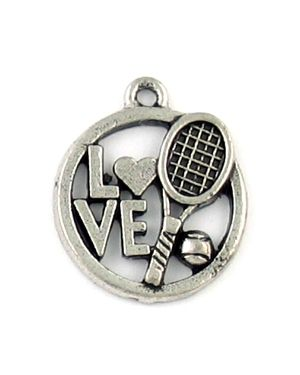 Wholesale Love Tennis and Racquet and Ball Charms