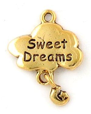 Sweet Dreams Charm (±19x25x2mm; - 1D)