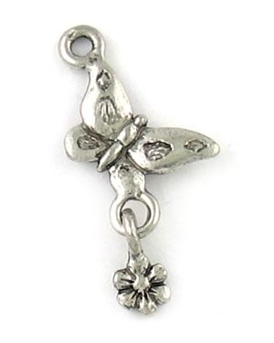 Butterfly With Flowers (±11.5x28x1.5mm; -2mm-;3D)