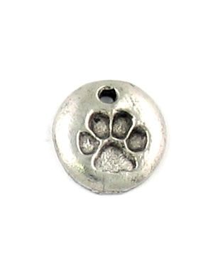 Wholesale Disc Charm With Paw Imprint.