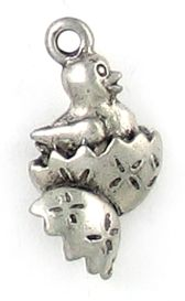 Wholesale Chick In Egg Charms.