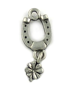 Wholesale Horseshoe With 4-Leaf Clover Charms.