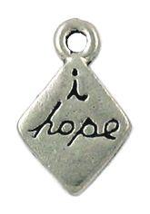 """""""I Hope"""" Charm (±11x17x2mm; - 1D)"""