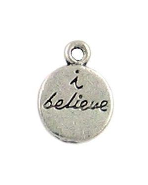 """I Believe"" Charm (±13x17x2mm; - 1D)"