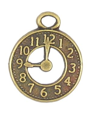 Clock Face Charms (±2x25x21mm; -3mm-;1D)