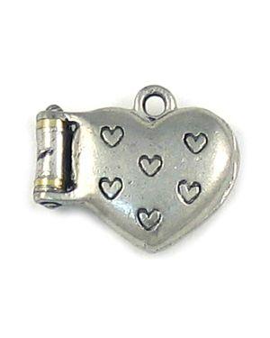 Heart Locket (±20x16x6mm; -1.5mm-;3D)