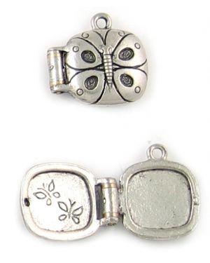 Butterfly Locket (±19x19x7mm; -1.5mm-;3D)
