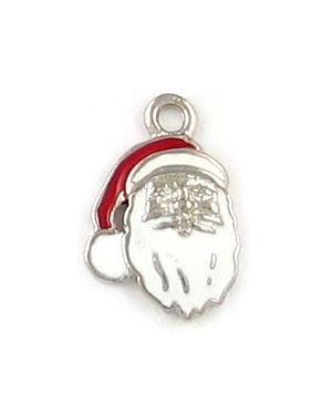 Wholesale Epoxy Enameled Santa Claus Charms.
