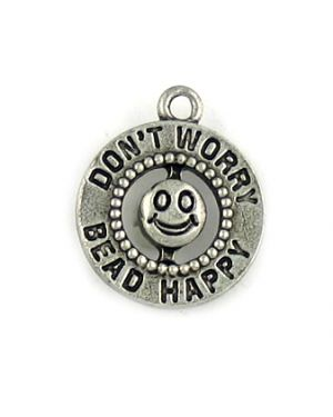 """""""Dont Worry Bead Happy"""" (±17x20x4mm; -1mm-;1D)"""