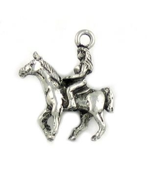 Wholesale Lady On Horse Charms