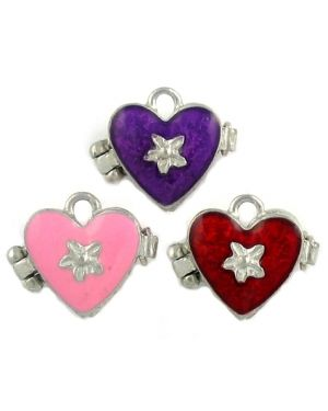 Assorted colors heart lockets