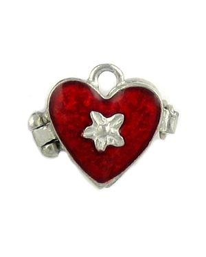 Red epoxy heart locket