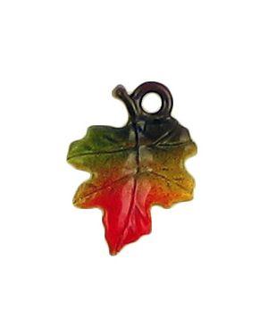Colored Leaf Charm