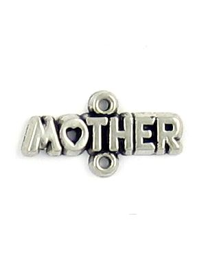 Pewter Mother Connector Charms.