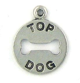 Wholesale Top Dog Charm With Bone