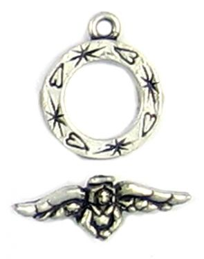 Angel Toggle (Ring ±16mm x 20mm x 2mm, Bar ±24mm L x 9mm W x 5mm D;  Ring Hole -2mm-;  1D)