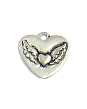 Wholesale Winged Heart Charms.