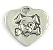 Wholesale Heart and Dog with Bone Charm