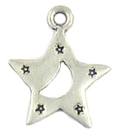 Star With Moon (±2x21x18mm; -2mm-;2D)