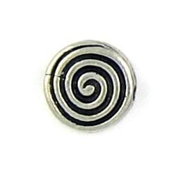 Wholesale Disc Bead With Swirl Design