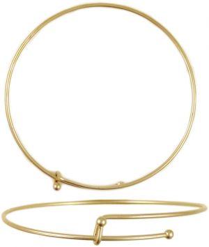 Wholesale Epandable Wire Bracelet Gold Plated