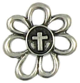 Wholesale Flower with Cross Charms.