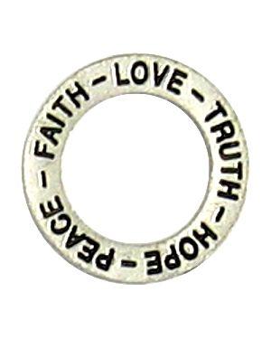 Wholesale hope, peace, faith affirmation ring