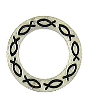 Fish Symbol Affirmation Ring (±21x21x2mm; - 2D)