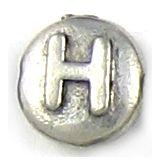 Wholesale Letter H Alphabet Disc Beads.