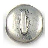 Wholesale Letter I Alphabet Disc Beads.