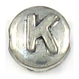 Wholesale Letter K Alphabet Disc Beads.