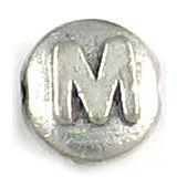 Wholesale Letter M Alphabet Disc Beads.